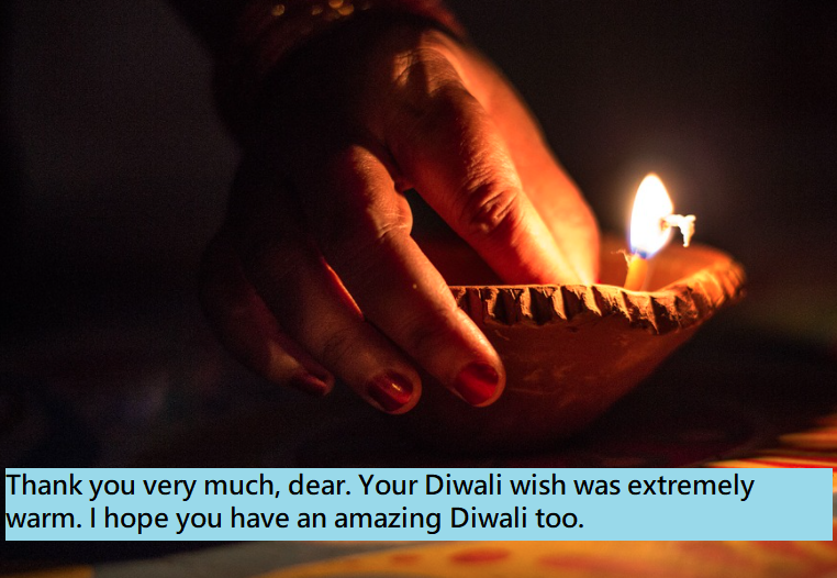 Happy Diwali Thank You Messages